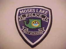 MOSES LAKE WASHINGTON  POLICE PATCH **** FREE SHIP IN USA ****