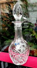 Vintage BOHEMIAN Crystal Cut Glass Decanter Prestigious Gin Spirits On Trend