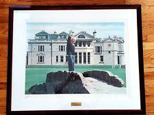 "ARNOLD PALMER Signed ""Farewell"" Golf Print HELEN RUNDELL Limited #275/500 Framed"