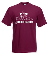 Camiseta Hombre Inspector Gadget Dibujos Animados i Eslogans Fun Divertido Hasta