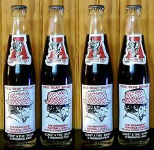 BEST DEAL!! Vintage NCAA Alabama Coca-Cola BEAR BRYANT Coke Bottles (set of 4)