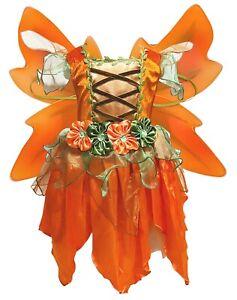 Tinker Bell Green Fairy Kids Girl Halloween Party Costume Dress Wings Set 1-10Y