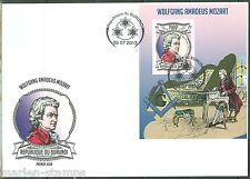 BURUNDI 2013 WOLFGANG AMADEUS MOZART  SOUVENIR SHEET FIRST DAY COVER