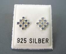 NEU 925 Silber OHRSTECKER mit SWAROVSKI STEINE light saphir/hell-blau OHRRINGE