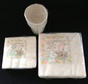 Vintage Hallmark Baby Shower Cups and Napkins (2 sizes) - Wynken, Blynken & Nod