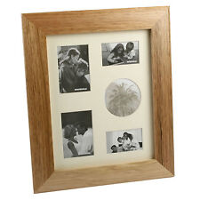 Wooden Photo Frame Collage Oak Finish Portrait 5 Photos  NEW   20085