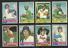 1976 TOPPS BASEBALL ~ YOU PICK (25) ~ BIG LIST~  COMPLETE YOUR SET ~~  EXC-MINT