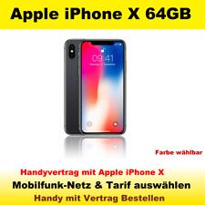 Smartphone Handy mit Vertrag Apple iPhone X 64GB Handyvertrag mit Handy Tarif