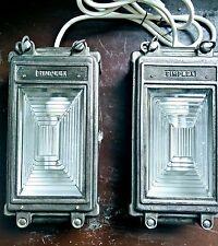 Pair of Industrial Vintage Bulkhead Lights from MOD bunker