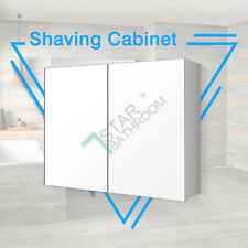 900x720x150mm Bathroom Vanity Shaving Mirror Cabinet Pencil Edge Glass Medicine