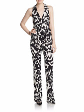 3324022980c0 NEW DIANE VON FURSTENBERG Zola Silk HALTER Jumpsuit Size 12  648 NORDSTROM
