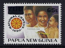1994 PAPUA NEW GUINEA 1990 CENSUS 65t on 70t OVERPRINT FINE MINT MUH/MNH