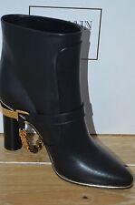 NIB BALMAIN Womens ADELAIDE Black Leather Mid-Calf Boot Size 8.5 EUR 38.5