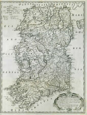 OLD IRELAND IRISH MAP Genealogy McDermot McDonough McDonald McDonnall SURNAMES