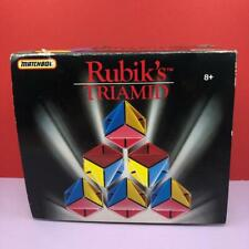 Vintage Rubiks Cube Triamid Puzzle Brain Teaser Boxer Toy 1990s 100% Complete