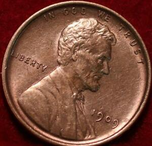 Uncirculated Red 1909 Philadelphia Mint Copper Lincoln Wheat Cent