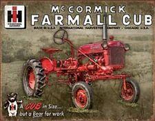 McCormick Farmall Cub Antique Tractor TIN SIGN Metal Wall Art Poster Ad