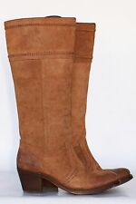 Frye Jane 14L tall sueded leather riding boots 7 B Very Lt Wear In Excell Cond!
