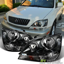 For Blk 1999-2003 Lexus Rx300 Headlights lamps Lights Left+Right 99 00 01 02 03