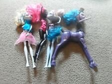 4 Incomplete Monster High dolls