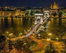 BUDAPEST SKYLINE CITYSCAPE POSTER PRINT STYLE B 24x36 HI RES 9MIL PAPER