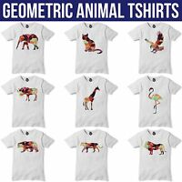Geometric Animal T Shirt Funny Hipster Triangle Tshirt Mens Womens Dope Swag