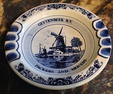 VINTAGE ADVERTISING ASHTRAY GEYTENBEEK B.V. PACKERS AND MOVERS ROYAL DELFTS