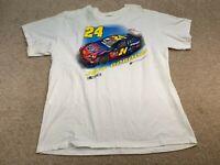 NASCAR #24 Jeff Gordon Short Sleeve T-Shirt Men's Size XL White