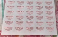 30 Fragile Small Business Labels Stickers Postage Self Adhesive