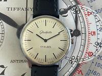 GÜB Glashütte Vintage Watch Signed Gub Glashutte, Lovely Large Dress Watch
