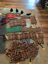 Lincoln Logs Lot Of Over 200+ Pieces Classic, Original Large Pieces