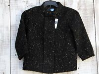Baby GAP Kids Girls 12-18 Mo, 3T NEW Wool Blend Black Light Jacket Coat Blazer