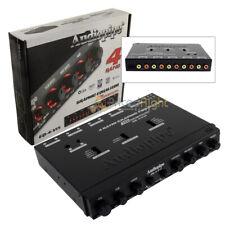 4 banda ecualizador gráfico 15 voltios línea conductor medio DIN chasis Luz De Fondo Azul Rojo