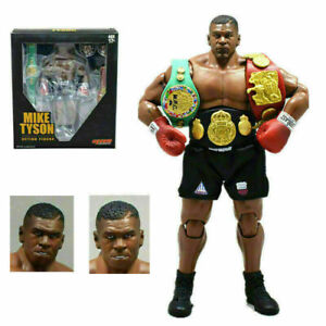 New King of Boxing Mike Tyson Boxer with 3 Head Sculpts Action Figure Model Kid