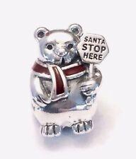 Authentic Pandora Christmas Polar Bear Charm Winter 2017 W/ TAG #796466EN39