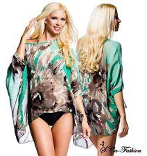 Markenlose geblümte Damenblusen, - tops & -shirts aus Polyester für die Freizeit