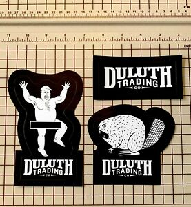 Duluth Trading Co. 3 Stickers - Angry Beaver, Dancing Man, and Logo decals