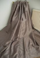 DUNELM MINK BLANKET INTERLINED RING TOP CURTAINS,45WX54D,SHIMMERY,EMBROIDERED