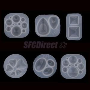 Silicone Domed Cabochon Crystal Gem Pendant Mould Dried Flower Ornament Mold