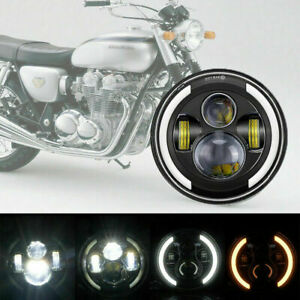 """7"""" Inch LED Headlight Motorcycle DRL for Touring Road Softail Honda sadow VTX"""