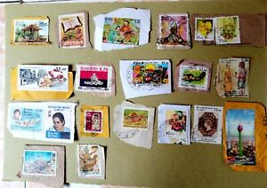 sri lanka ceylon 20 used stamps on paper collections  with rare vintage set 01