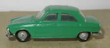 H old made in france 1966 micro norev oh 1/87 peugeot 204 dark green #532