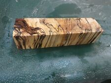MM-SPALTED  MAPLE  DELUXE  KNIFE BLOCK/SCALES/ CALLS/ PEN BLANKS--M--39