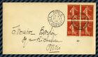 -= Bloc de 4YT#135 s/lettre de PARIS / 4ème échelon de poids / 1906 =-