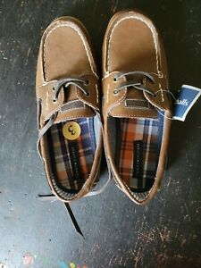 Tommy Hilfiger Moc Toe Boat Shoes Med Brown Size 3 (Youth) Euro 34 New with tags
