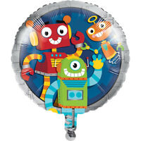 "18"" Party Robots Foil Balloon Helium Boys Birthday Decoration Supplies Childrens"