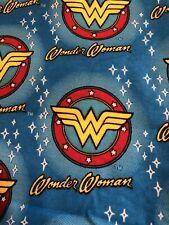Wonder Woman Flannel 18 X 21 Fat Quarter Free Shipping