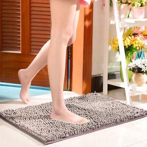 Non-slip Bath Rug Soft Mat Shaggy Microfiber Floor Toilet Mat Bathroom Absorbent