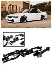 For 89-94 Nissan 240SX S13 Black Rear Suspension Traction Camber Arm Toe Kit