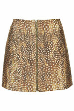 Topshop - Fawn Deer - A Line Skirt - Size 12
